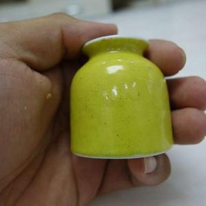 清晚期 柠檬黄釉水域