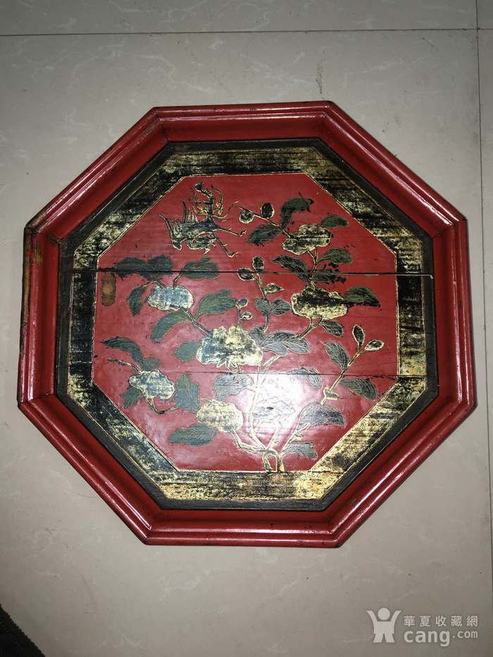 清 十里红妆八角盘图1