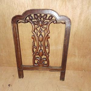 花梨木椅背一个