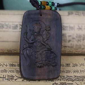 联盟 收藏沉水级满结油达拉干沉香挂牌挂件 文殊菩萨