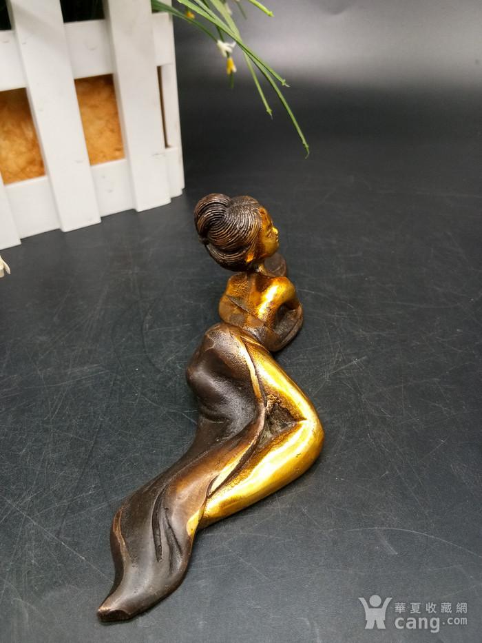 清金铜美女笔架图2