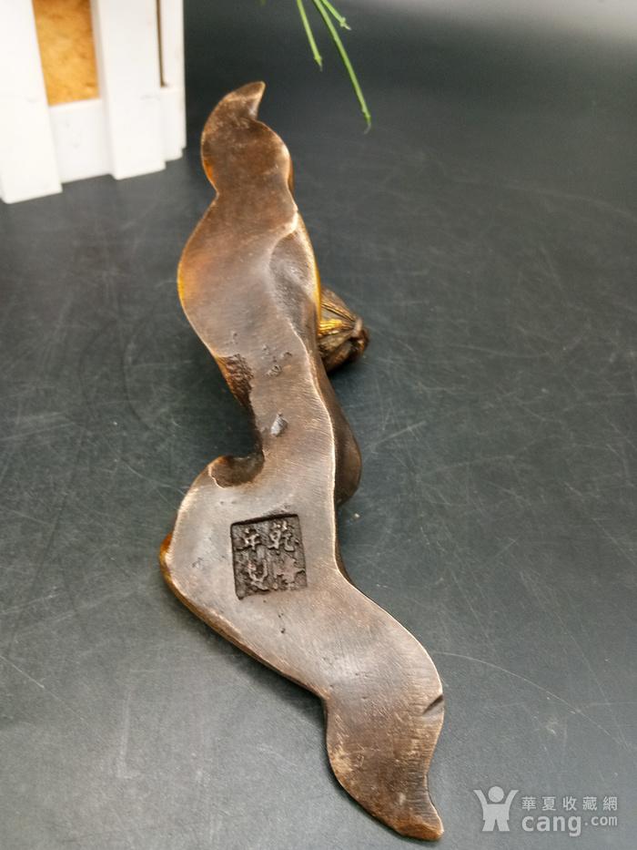 清金铜美女笔架图5