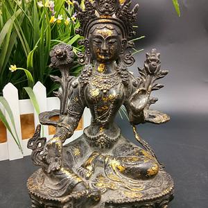 清鎏金佛像