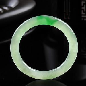 冰种带阳绿圆条手镯