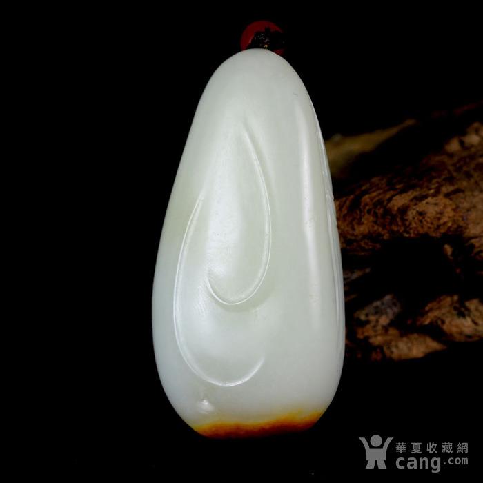油皮独籽 苏工巧雕 和田玉籽料羊脂白玉把件 绝代芳华图5
