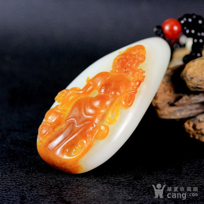 油皮独籽 苏工巧雕 和田玉籽料羊脂白玉把件 绝代芳华图7