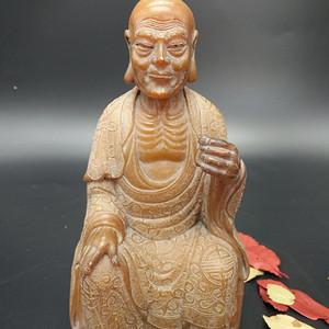 清寿山石达摩佛象