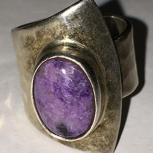 墨西哥镶紫罗兰戒指