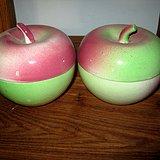 民国仿生瓷苹果一对