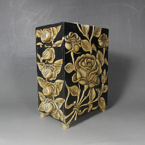 老寿山石精雕文具箱