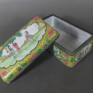 珐琅彩铜胎笔盒