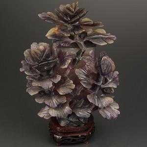 粉晶花卉瓶