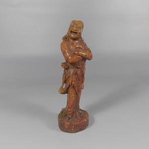寿山石雕刘海造像