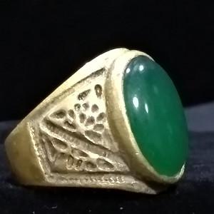 美国回流的翡翠老金清代老戒指