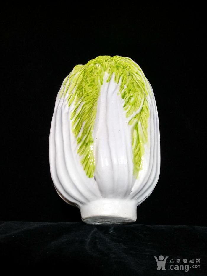 英国回流的民国仿生白菜百财图10