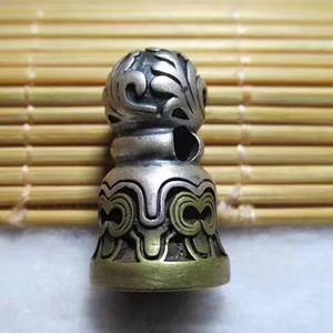 收藏级精品 开门到代 清 精工铸造 银身铜座
