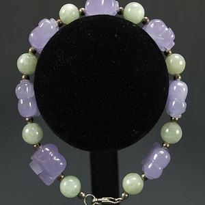 国外回流天然紫色翡翠 项链