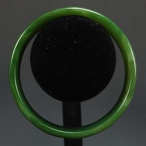 天然色绿嵌玛瑙手镯