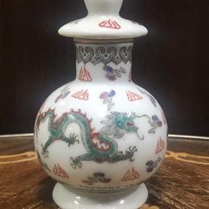 7029 建国初粉彩龙纹调料瓶