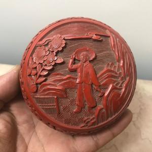 7033 文革剔红漆盒
