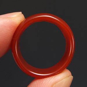 美国回流 天然红玛瑙 戒指