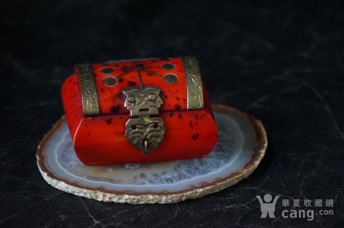 天然骨料镶嵌铜饰小首饰盒图5