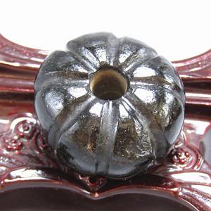 宋辽时期 和田墨玉瓜形珠 玉坠 包浆熟厚