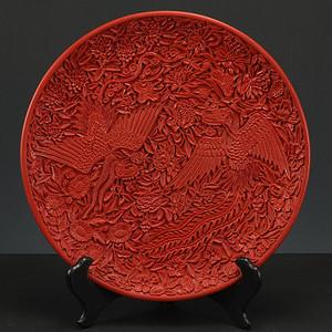 回流剔红漆器 园盘