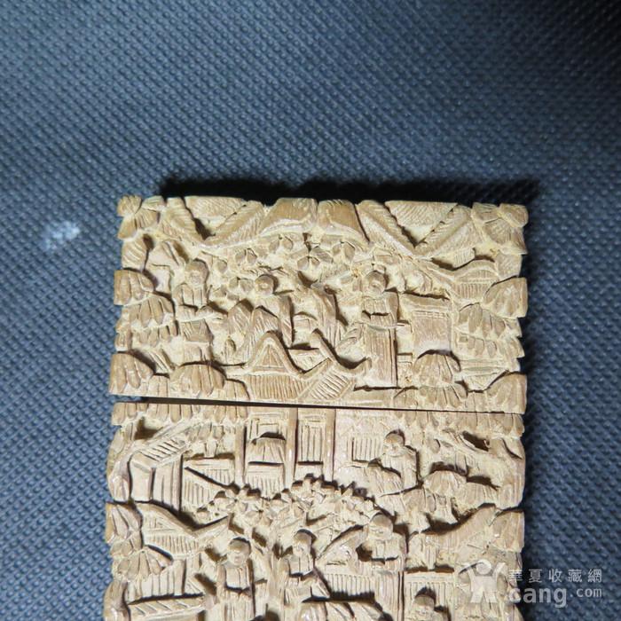 精品   清代十三行檀香名片盒图4