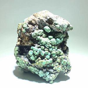 正宗 原矿云盖寺绿松石 原石个头大 带罕见金质矿