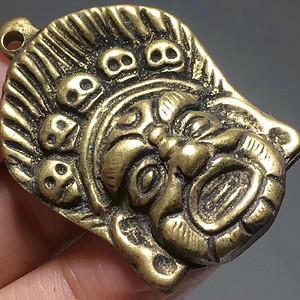 藏传 清代 铜制 黑天护法神 手工錾刻 工艺不错