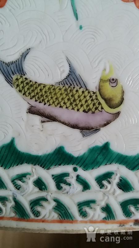 海水暗刻瑞兽纹六方帽筒图7