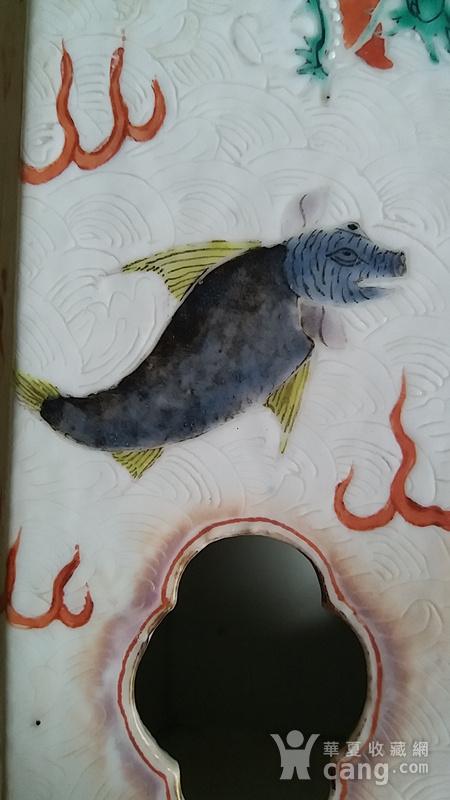 海水暗刻瑞兽纹六方帽筒图8