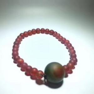 清代 玛瑙 手链 颗颗珠子都是 老玛瑙