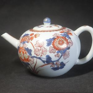 清代乾隆花开富贵描金大茶壶