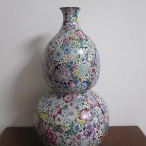 粉彩百花不落巨大葫芦瓶