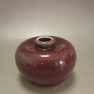 清晚期红釉苹果尊