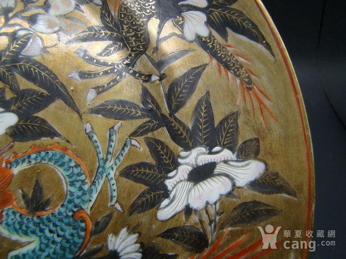 金地粉彩龙纹盘图7