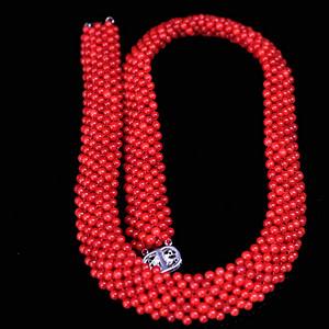 意大利沙丁shanhu米珠穿宽版项链