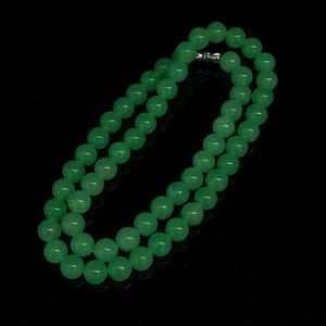 缅甸满绿翡翠项链