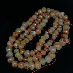天然巴西玛瑙随形原石108颗念佛珠塔链项链
