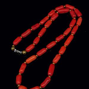 日本阿卡shanhu管珠项链