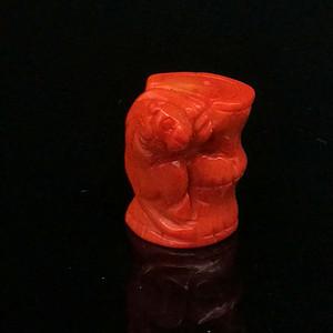 早期收藏台湾陌陌shanhu雕刻祝福吊坠
