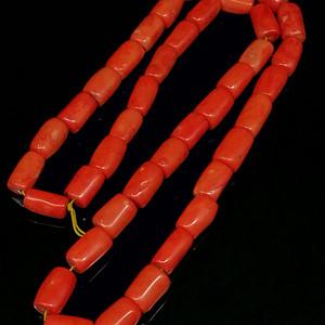 早期收藏台湾陌陌shanhu桶珠项链珠子