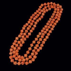 早期收藏老陌陌shanhu十字灯笼珠项链