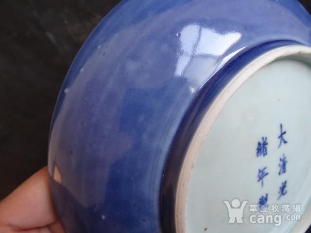 老蓝釉盘子图7