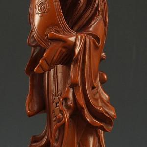 美国回流 老木雕塑像 摆件