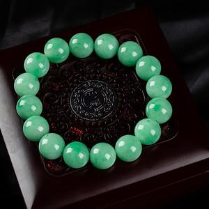 冰润阳绿圆珠手链