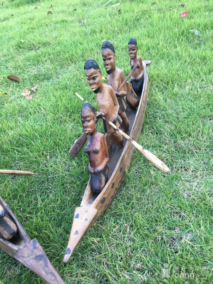 非洲木雕独木舟图4