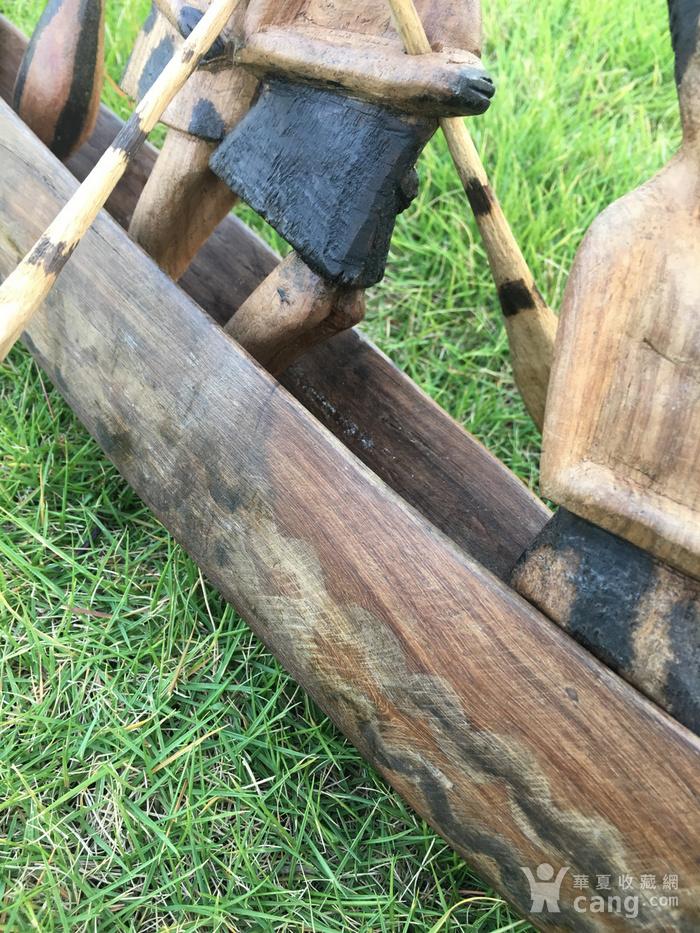 非洲木雕独木舟图5
